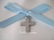 100B.  Baptism Pins with Traditional Style Cross Pendants