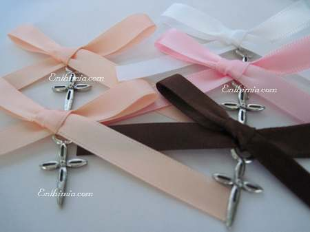 107Pch.  Baptism Pins with Elegant Cross Pendants