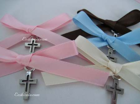 110P.  Baptism Pins with Traditional Cutout Style Cross Pendants