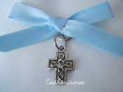 31B.  Baptism Pins with Block Style Cross Pendant