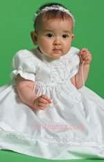 Dress with Ribbon Tie On Bodice - White